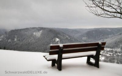 Die heutige Aussicht auf unser verschneites Bad Wildbad